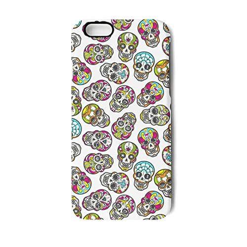 Case for Apple iphone 7 Plus and iphone 8 Plus Colorful mexican candy skull seamless pattern image Shock-Absorption Bumper Cover Anti-Scratch Clear