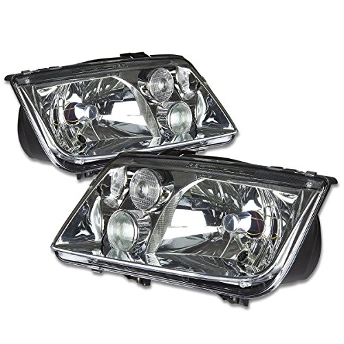 For 99-05 Volkswagen VW Jetta/Bora A4 Typ 1J Pair of OE Style Chrome Housing Headlight w/Fog Light