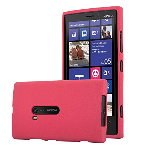 Cadorabo Case Works with Nokia Lumia 920 in Frost RED - Shockproof and Scratch Resistant TPU Silicone Cover - Ultra Slim Protective Gel Shell Bumper Back Skin (Cover For Nokia Lumia 920)