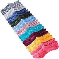 IDEGG Women's and Men's Socks 10 Pairs Low Cut Anti-Slid Athletic Casual Cotton Socks (Color P - 10 Pairs - 10 Colors,...