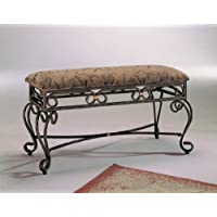 Trona metal padded bedroom bench by A&D