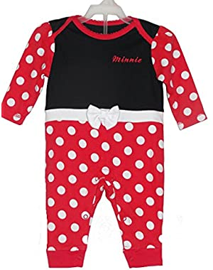 Baby Girl's MINNIE MOUSE Costume Sleep 'N Play Romper