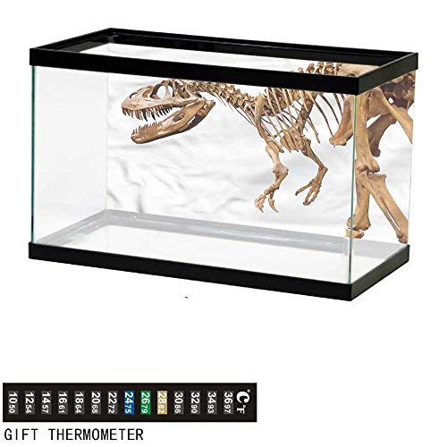 bybyhome Fish Tank Backdrop Dinosaur,Archeology Theme T-Rex,Aquarium Background,30