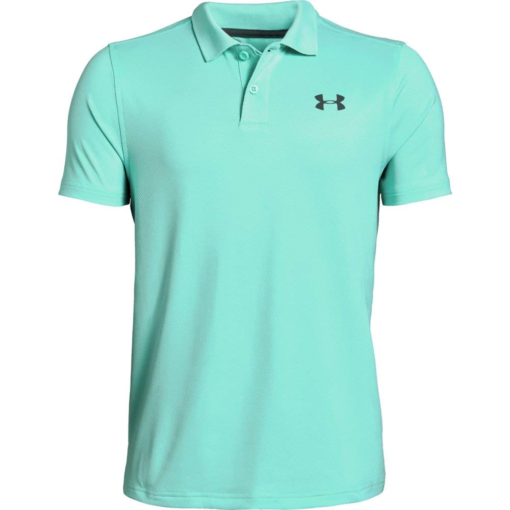 Under Armour Performance Polo 2.0, Neo Turquoise//Pitch Gray, Youth X-Small