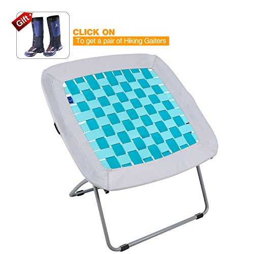 REDCAMP Folding Bungee Web Chair for Teens Kids Adults, 31x31.5x31.5 inches, White & Turquoise by REDCAMP