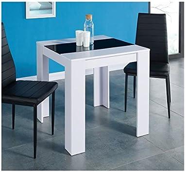 Damia Table A Manger De 2 A 4 Personnes Style Contemporain Blanc
