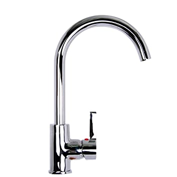 beiyi d18 fashion chrome kitchen sink mixer tap faucet uk - Kitchen Sink Mixer Taps