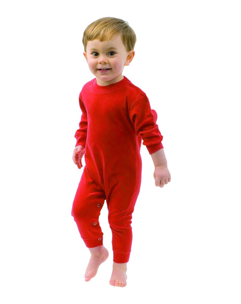 MONAG Baby Long Sleeve Romper (6-12M, Red)