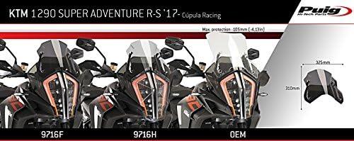 Racingscheibe f/ür KTM 1290 Super Adventure R//S 17-19 dunkel get/önt Puig 9716f