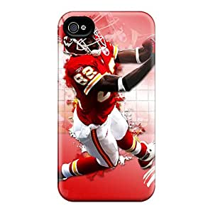 Scratch Resistant Cell-phone Hard Cover For Iphone 6plus With Customized Realistic Kansas City Chiefs Image AlainTanielian