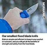 Morakniv Eldris Fixed-Blade Pocket-Sized Knife with Sandvik Stainless Steel Blade and Plastic Sheath, Blue, 2.2 Inch
