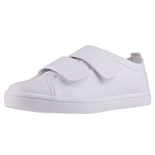 Lacoste Womens Straightset Strap Trainers Shoes White in Size 40