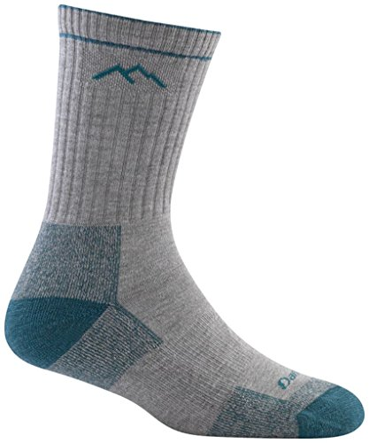 Darn Tough Merino Wool Coolmax Micro Crew Cushion Sock - Womens GrayTeal Small