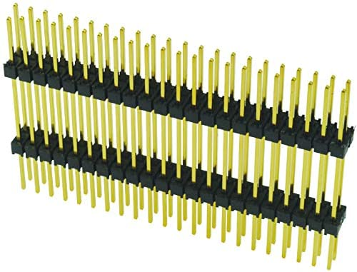 28 Contacts 2 Rows, Pack of 20 Board-To-Board Connector Header 2.54 mm Through Hole EW Series EW-14-14-T-D-980
