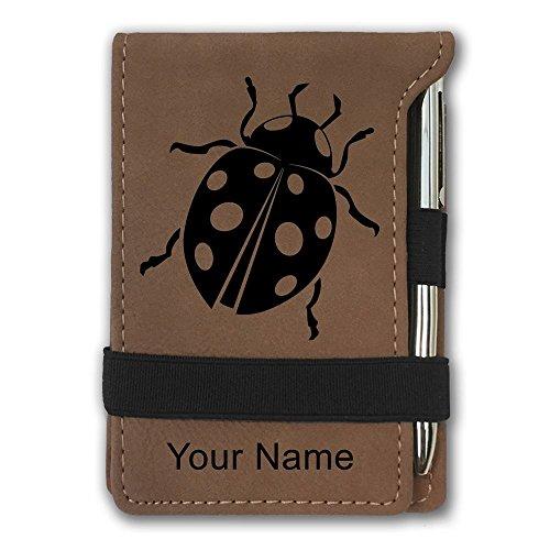 Mini Pocket Notepad - Ladybug - Personalized Engraving Included (Dark (Ladybug Personalized Mini)
