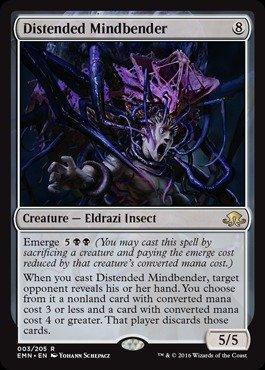 Magic: the Gathering - Distended Mindbender (003/205) - Eldritch (Decks Star Center Hole)