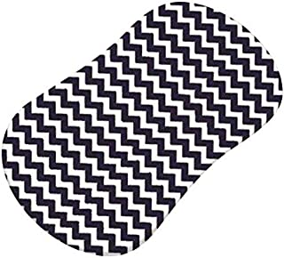 product image for SheetWorld Fitted Bassinet Sheet (Fits Halo Bassinet Swivel Sleeper) - Navy Chevron Zigzag - Made In USA