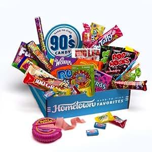 Hometown Favorites 1990's Nostalgic Candy Gift Box, Retro 90's Candy, 3-Pound