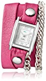 watches for women nickle free - La Mer Collections Women's 'Multi Chain' Quartz Stainless Steel Case Back, Nickle Free Mixed Metal Alloy and Leather Watch, Color:Pony Pink / Silver-Toned (Model: LAMERMULTI4511)