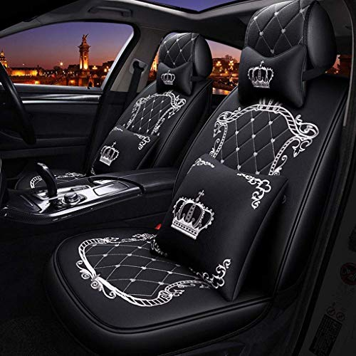 GZTYLQQ Car Seat Covers Set Leather, Universal 5 Seats Seat Cushions for the front seats and rear seat Seats Seat cover with cushions (Color : White): Amazon.co.uk: Sports & Outdoors