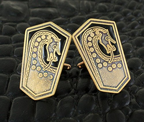 Scar Burial Plaque Viking Cufflinks with Black (Plaque Link)