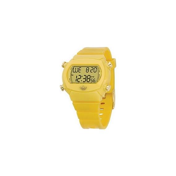 Adidas adh1893 Unisex Correa de PU Reloj Digital de Color Amarillo: Amazon.es: Relojes