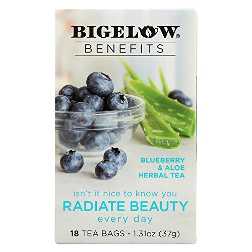 Bigelow Tea Blueberry and Aloe, Radiate Beauty (Pack of 6)