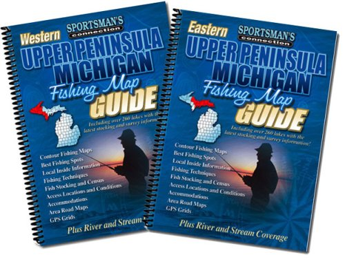 Michigan UP Fishing Map Book Guides Set