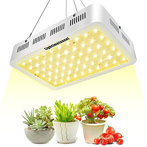 600W LED Grow Light, Lightimetunnel 3500K Full Spectrum Plant Light Bulbs for Hydroponic Greenhouse Indoor Plants Seeds Veg and Flower (Best Indoor Plant Seeds)