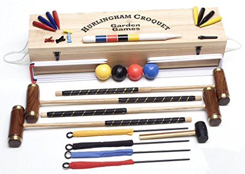 Garden Games Hurlingham Croquet Set (4 player) by Garden Games