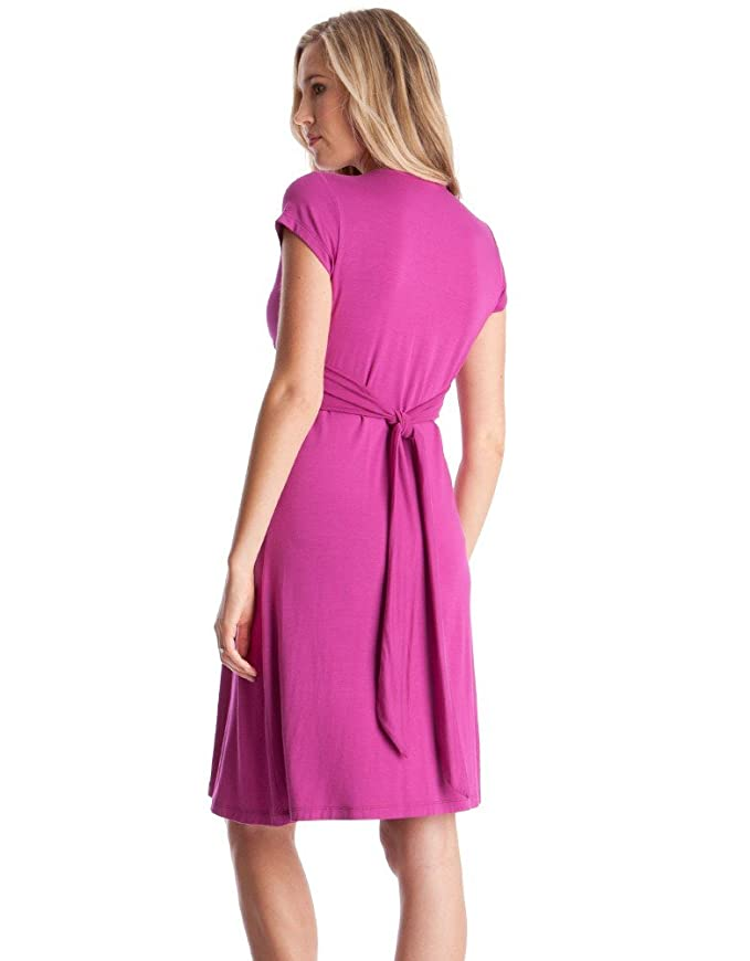 8a7a37ddff83 Seraphine Women s Pink Fuchsia Knot Front Maternity Dress at Amazon Women s  Clothing store