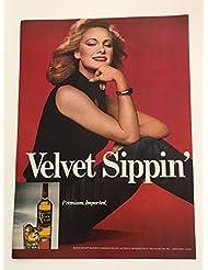 1980 Black Velvet Whisky Sippin' Magazine Print Advertisement
