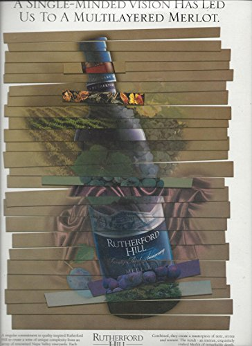 PRINT AD For Rutherford Hill 1999 Merlot Wines: Multilayered - Hills Merlot