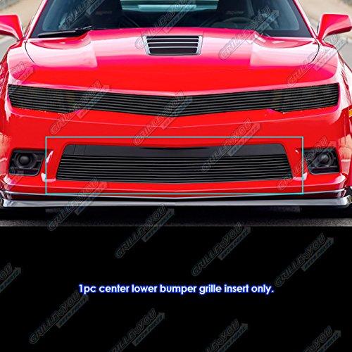 Fits 2014-2015 Chevy Camaro LS/LT/LT With RS Package Black Bumper Billet Grille #C65997H
