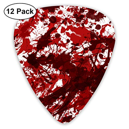 DFNRF Halloween Scary Bloody Handprint Footprint Guitar Pick 0.46mm/0.73mm/0.96mm 12pack,Unique Designs in Assorted Colors