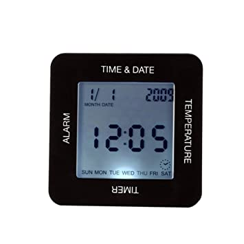 ToGames-ES Reloj Despertador Digital Moderno Escritorio de Pantalla Grande Mesa giratoria Reloj Giratorio: Amazon.es: Jardín