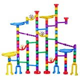 Toys : Marble Run Set, Glonova 127 Pcs Marble Race Track for Kids with Glass Marbles Upgrade Top Quality Marble Set