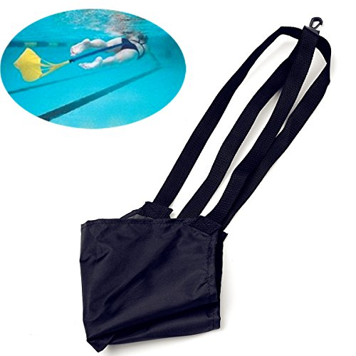 Water Swim Training Drag Belt Strap Tow Tether Trainer Swimming Resist Parachute Aid