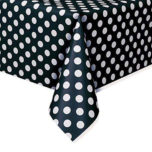 (Polka Dot Plastic Tablecloth, 108