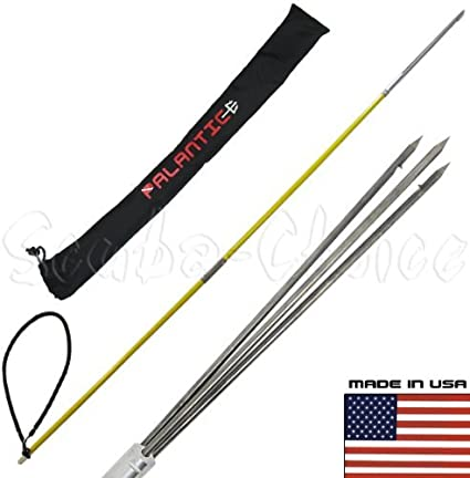 6 Ft Trident Solid Fiberglass Pole Spear with Barbed Paralyzer Tip