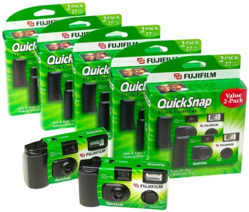 Fuji 35mm QuickSnap Single Use Camera, 400 ASA (FUJ7033661) Category: Single Use Cameras (Discontinued by Manufacturer), 40 Count by Fujifilm