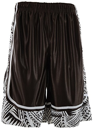 Brown Mens Basketball - ChoiceApparel Mens Two Tone Training/Basketball Shorts with Pockets (S up to 4XL) (2XL, 603P-Brown)
