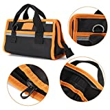 Tool Bag Waterproof 600D Fabric Oxford Electrician Tool Bag Storage Case Multi Pouch 27x15x12cm without tools
