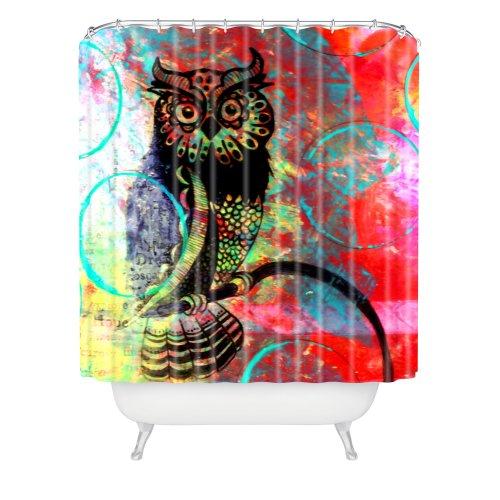 Deny Designs Sophia Buddenhagen Color Owl Shower Curtain, 69