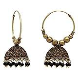 Jaipur Mart Ethnic Collection Jhumki Earrings for Women (Black)(GSE814BLK)