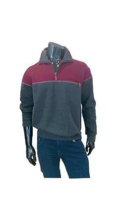 Shirt Manches Homme Sweatshirt Hajo Gris T Longues Plain rWdoexBC