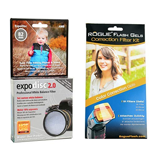 ExpoDisc 82mm White Balance Filter w/Rogue Flash Gels Color Correction by ExpoDisc