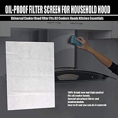 GreceMonday Grasa Campana no Tejido cocinar Limpiar los filtros Accesorios de Cocina Filtro Contaminación Malla del Filtro de Aceite de Papel de Filtro Campana: Amazon.es: Hogar