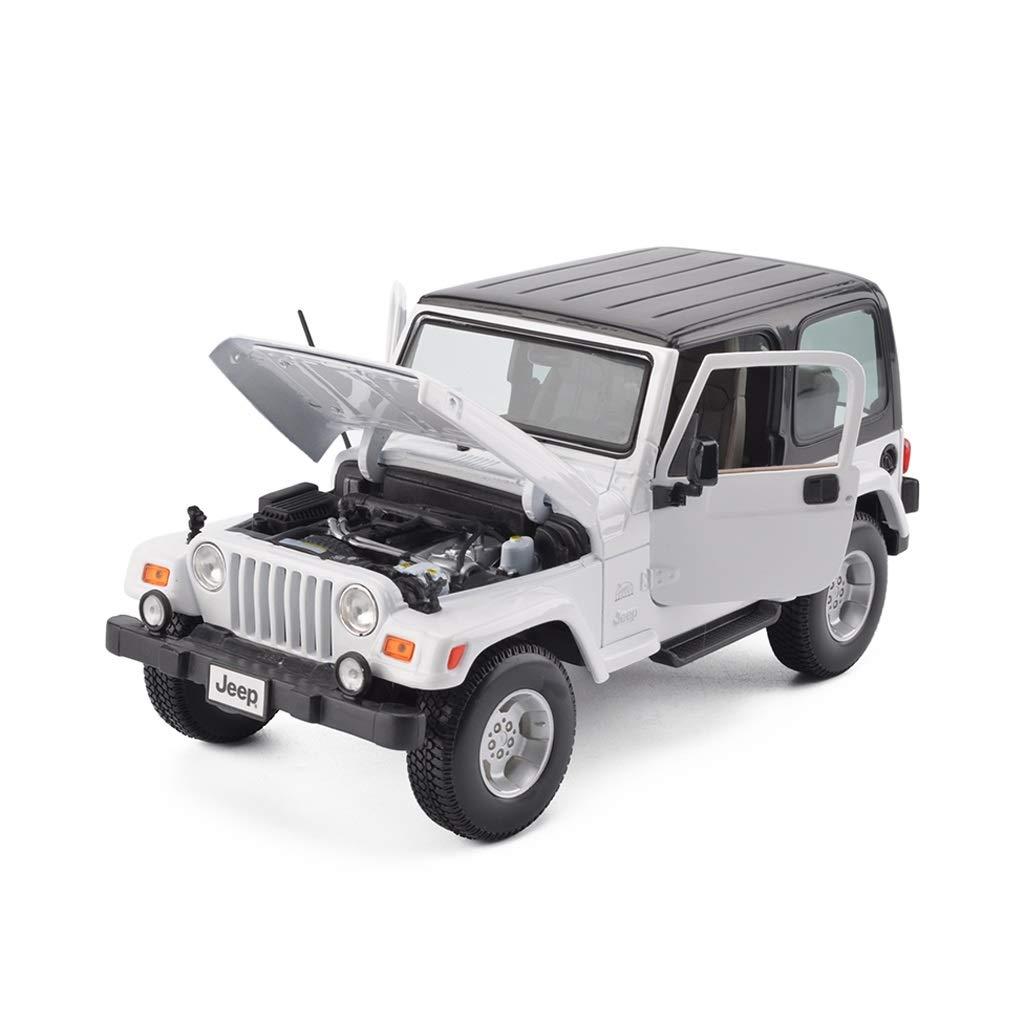 LIUFS-Alloy Car 1:18 Jeep Wrangler Sahara Alloy Car Model Original Boy Gift ( Color : White )