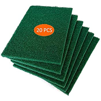 Scouring Pads - Heavy Duty Household Cleaning Scrubber with Non-Scratch Anti-Grease Technology - Reusable (10 PACK)